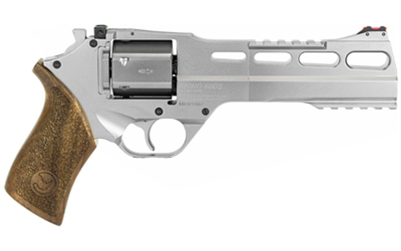 "Chiappa Firearms Rhino Nickel 6"" Revolver CALIFORNIA LEGAL - .357 Mag"