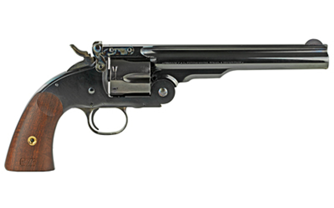 "Cimarron Model 3 Schofield Wood Grips 7"" CALIFORNIA LEGAL - .45 Colt"
