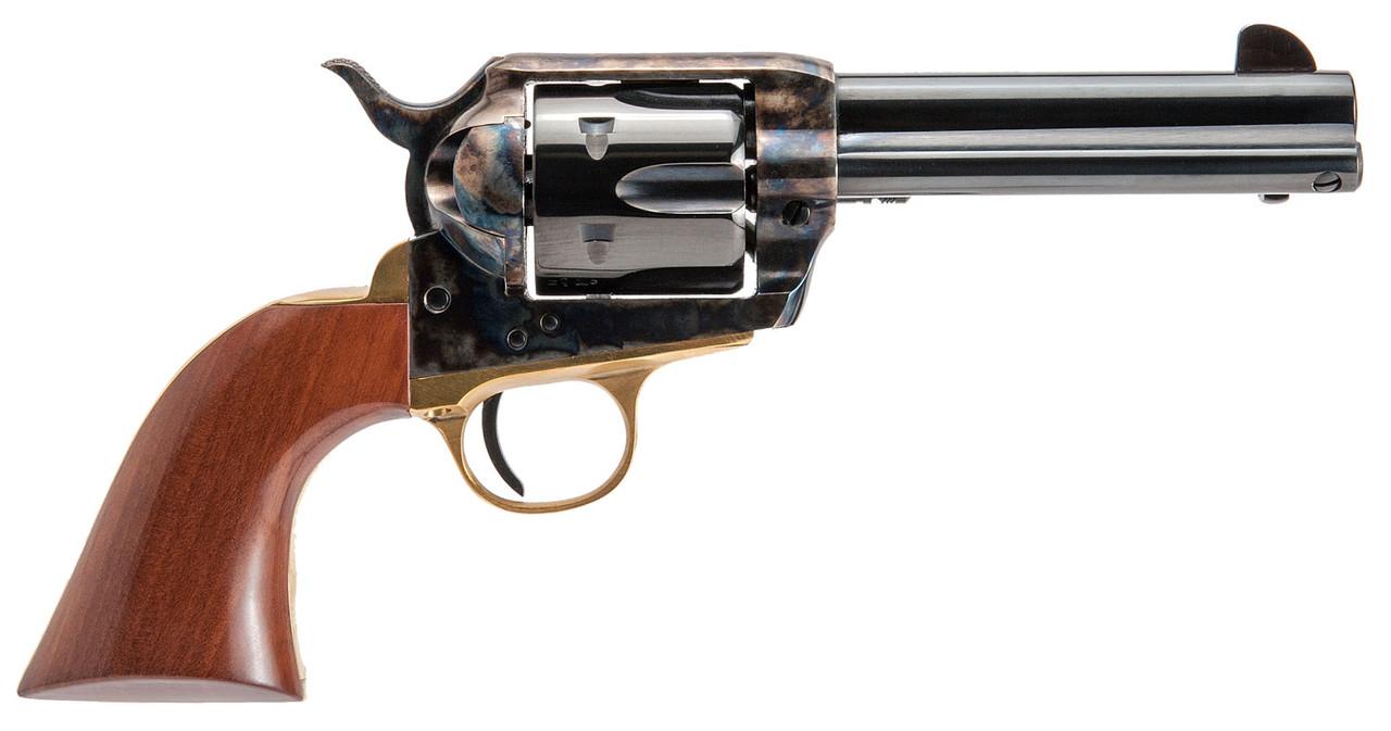 """Cimarron Pistolero Pre-War 1896-1940 Wood Grip 4.8"""" CALIFORNIA LEGAL - .357 Mag/.38 Spl"""