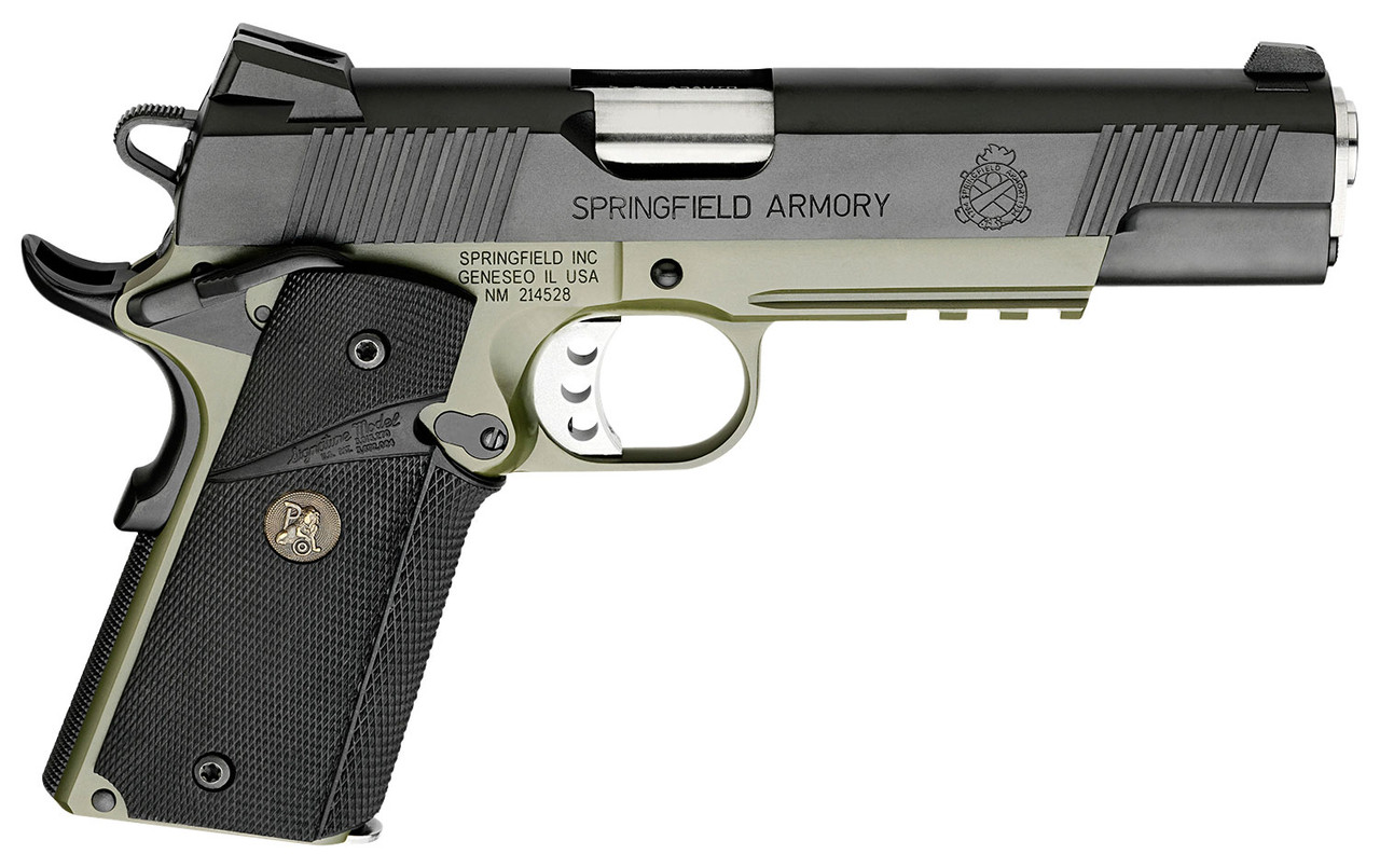 "Springfield Armory 1911 Loaded Operator Green/Black 5"" CALIFORNIA LEGAL - .45 ACP"