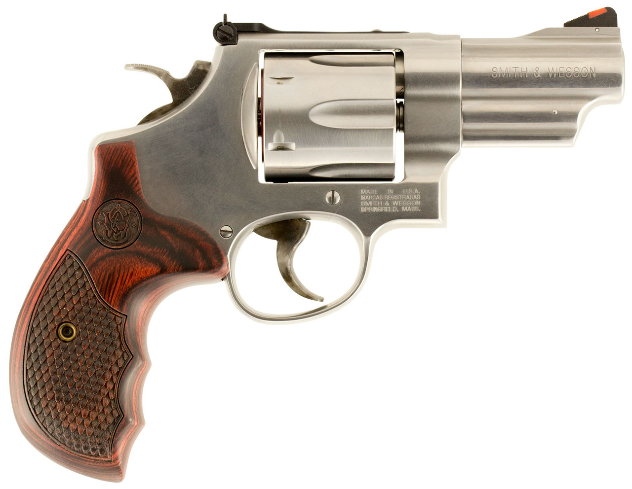 """Smith & Wesson 629 Deluxe Stainless, Wood Grip 3"""" CALIFORNIA LEGAL - .44 Mag"""