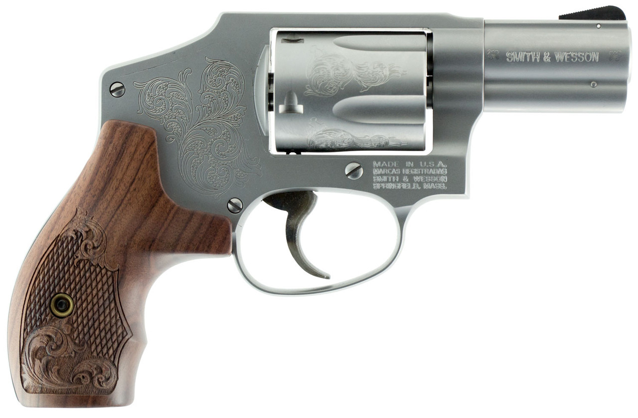 """Smith & Wesson 640 Machine Engraved Stainless 2.1"""" CALIFORNIA LEGAL - .357 Mag"""