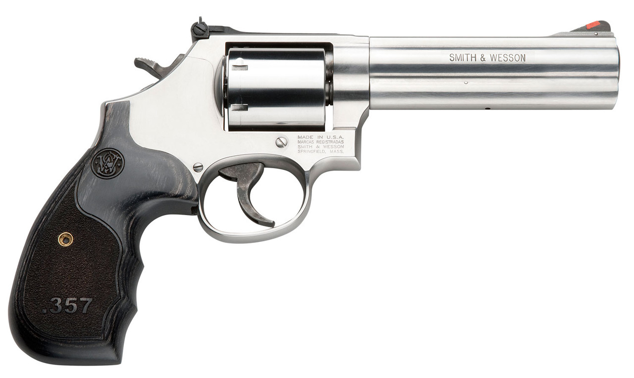 """Smith & Wesson 686 Plus Stainless 5"""" CALIFORNIA LEGAL - .357 Mag"""