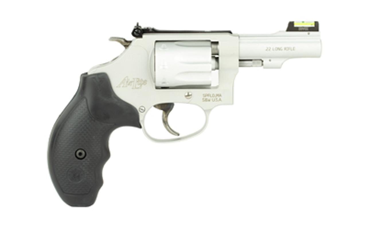 "Smith & Wesson 317 Kit Gun w/ Hiviz Sight Stainless 3"" CALIFORNIA LEGAL - .22 LR"