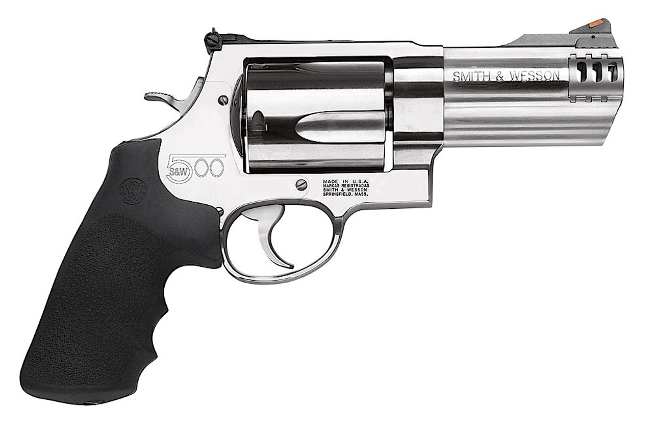 """Smith & Wesson 500 Stainless 4"""" CALIFORNIA LEGAL - 500 S&W"""