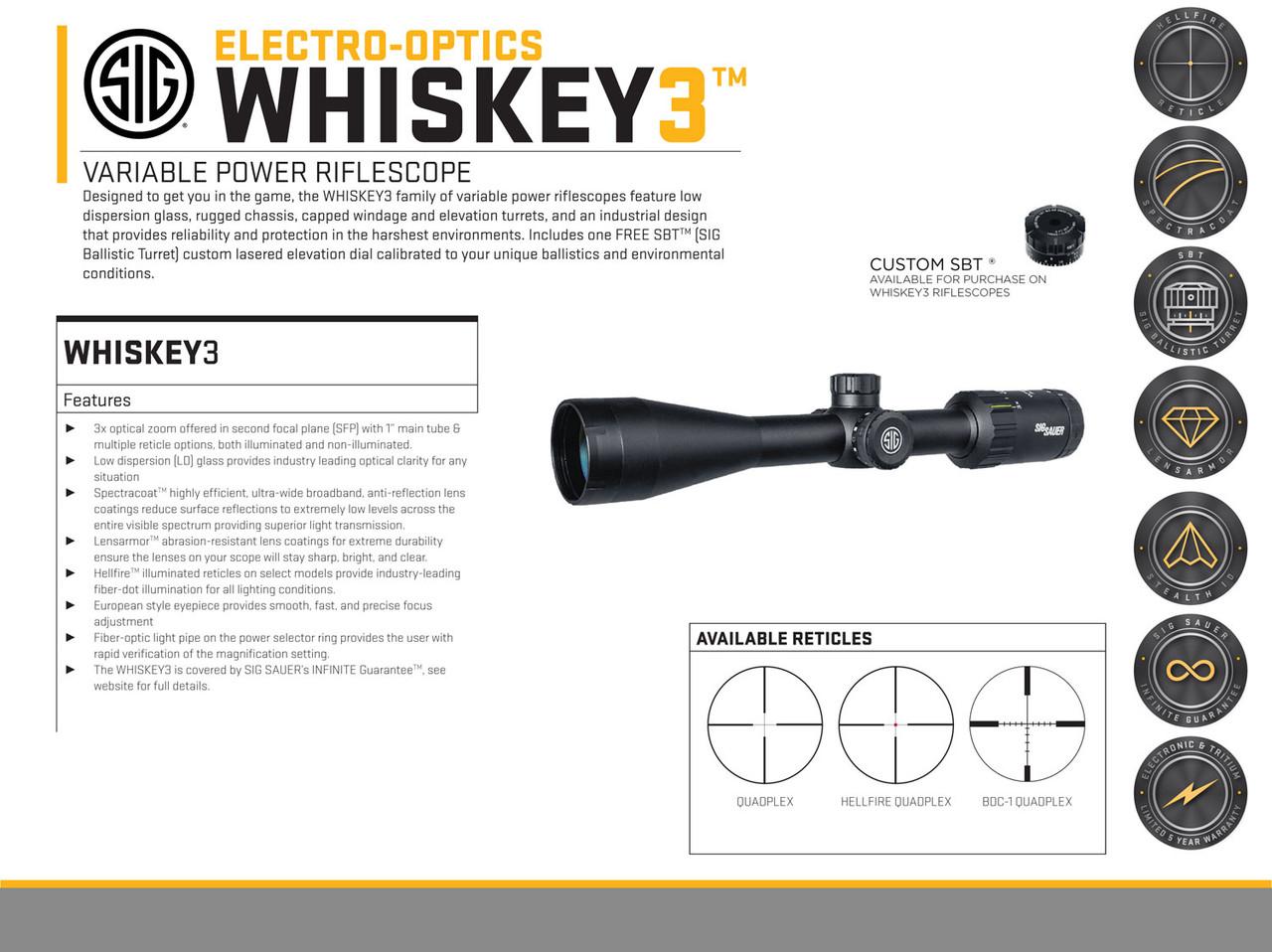 Sig Sauer Electro-Optics Whiskey3 4-12x