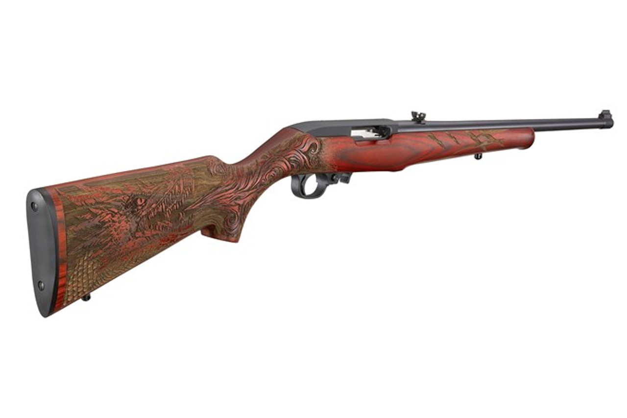 """Ruger 10/22 Dragon Engraved Red Talo Exclusive 18/5"""" CALIFORNIA LEGAL - .22LR"""