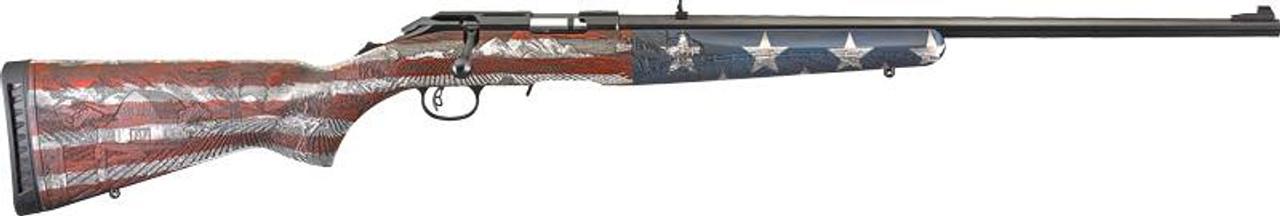 Ruger American Rifle Heartland American Flag Talo Exclusive CALIFORNIA LEGAL - .17 HMR
