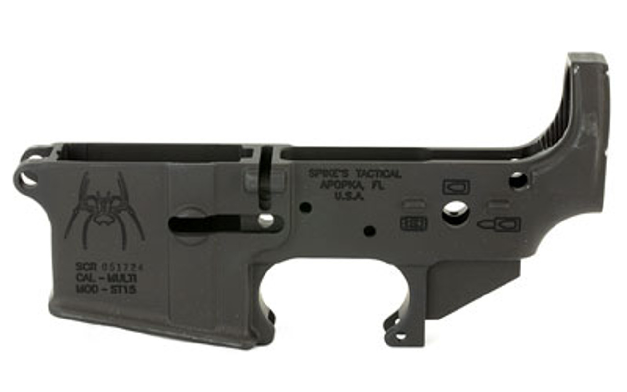 Spike's Tactical Spider Bullet Markings Stripped Lower CALIFORNIA LEGAL - .223/5.56