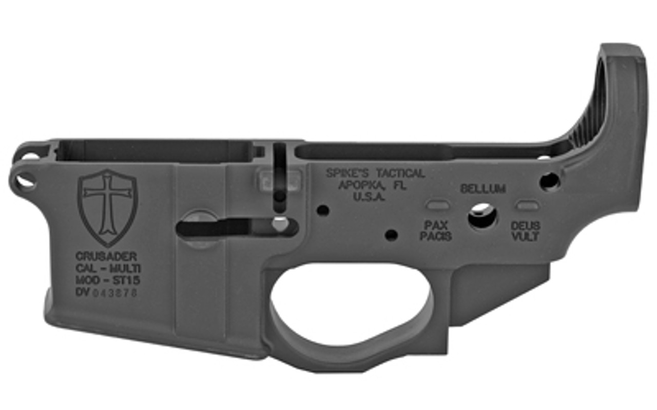 Spike's Tactical Crusader Stripped Lower CALIFORNIA LEGAL - .223/5.56