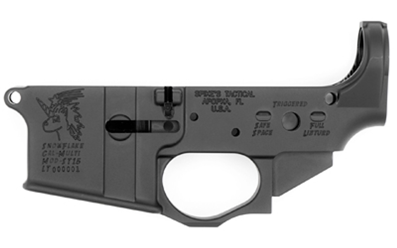 Spike's Tactical Snowflake Stripped Lower CALIFORNIA LEGAL - .223/5.56