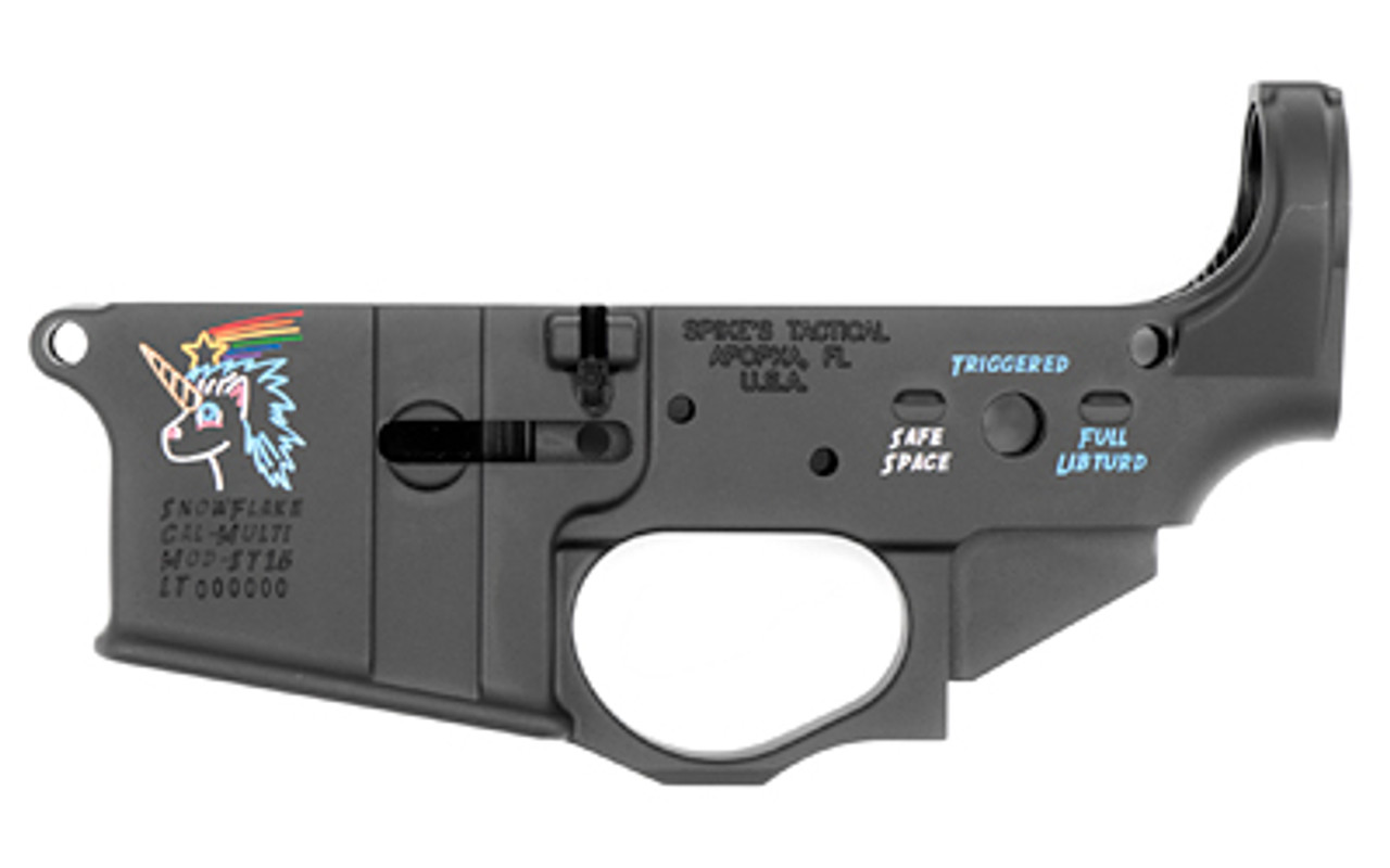 Spike's Tactical Snowflake Color Filled Stripped Lower CALIFORNIA LEGAL - .223/5.56