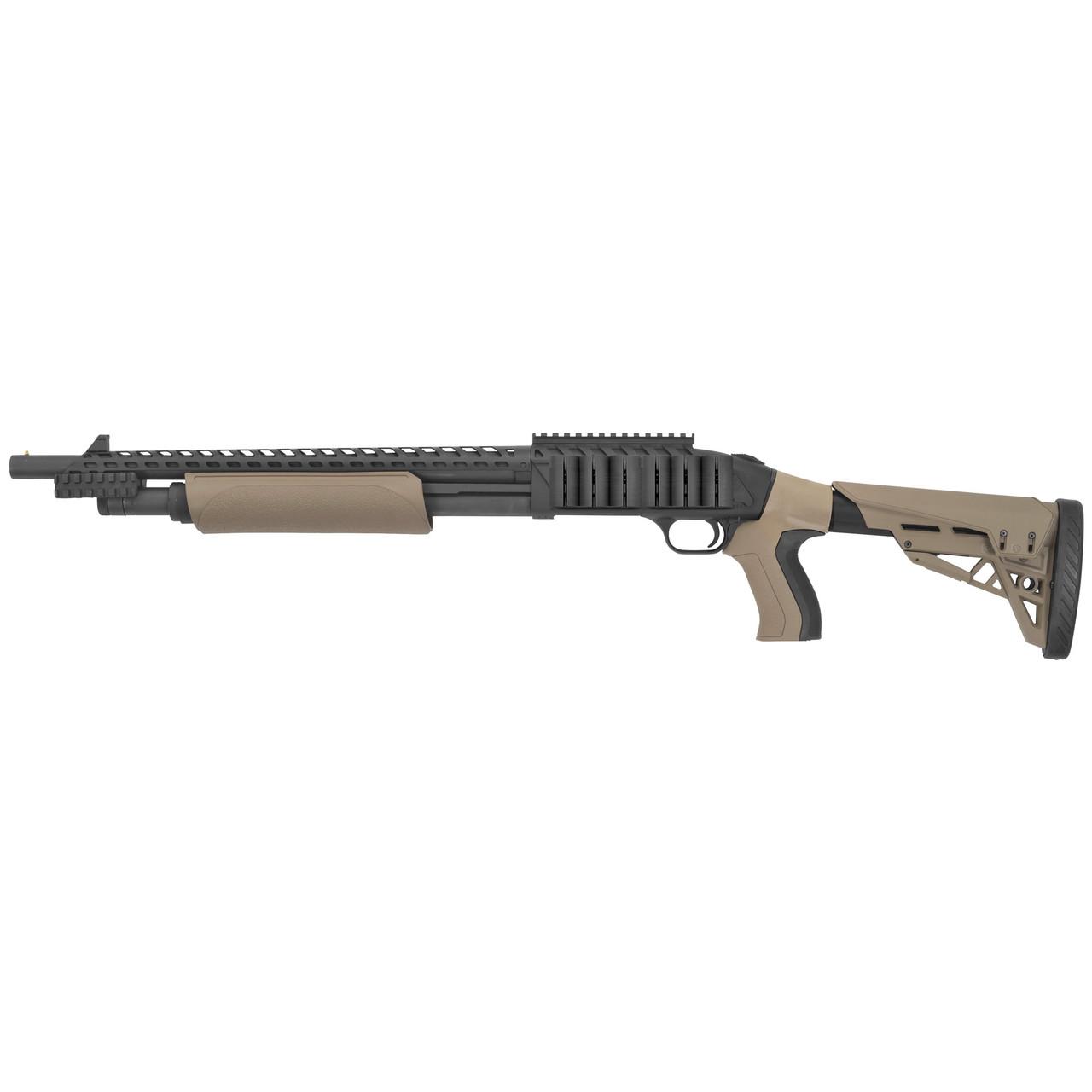 Mossberg 500 w/ Scorpion Grip TALO Exclusive CALIFORNIA LEGAL - 12ga - FDE