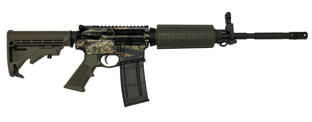 R Guns TRR15 CALIFORNIA LEGAL -  .223/5/56- Tiger Stripe Cammo