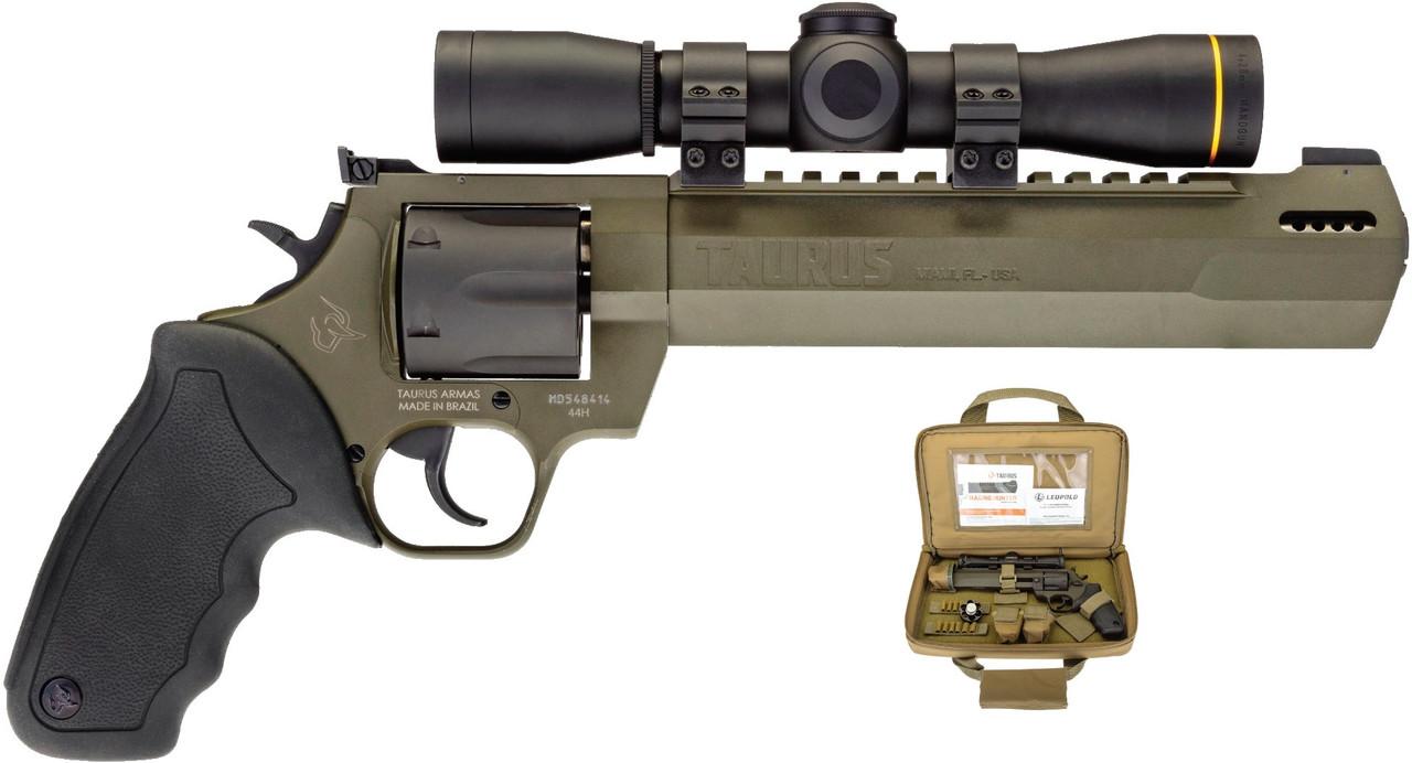 Taurus Raging Hunter W/Leupold FX-II 4x28mm Scope CALIFORNIA LEGAL - .44Mag Mil Spec Green