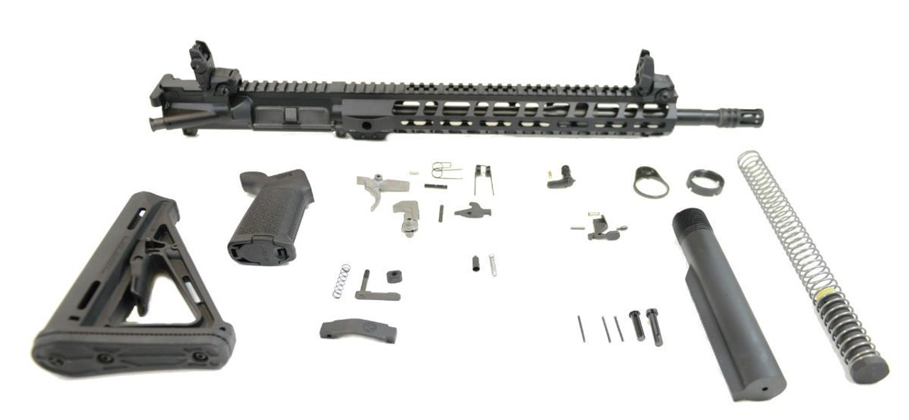 PSA Rifle Kit 16in/MidLength Magpul MOE CALIFORNIA LEGAL - 5.56 - NO MAGAZINE OR AR MAGLOCK
