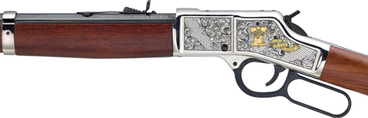 Henry God Bless American Engraved/Oct 20in Barrel CALIFORNIA LEGAL - 44mag