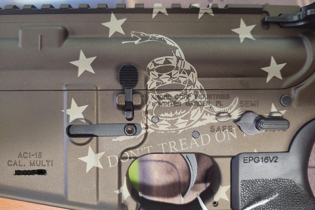 Andro Corp ACI-15 Bravo Mod 0 DTOM  California Legal - .223/5.56 - Black/Bronze Cerakote