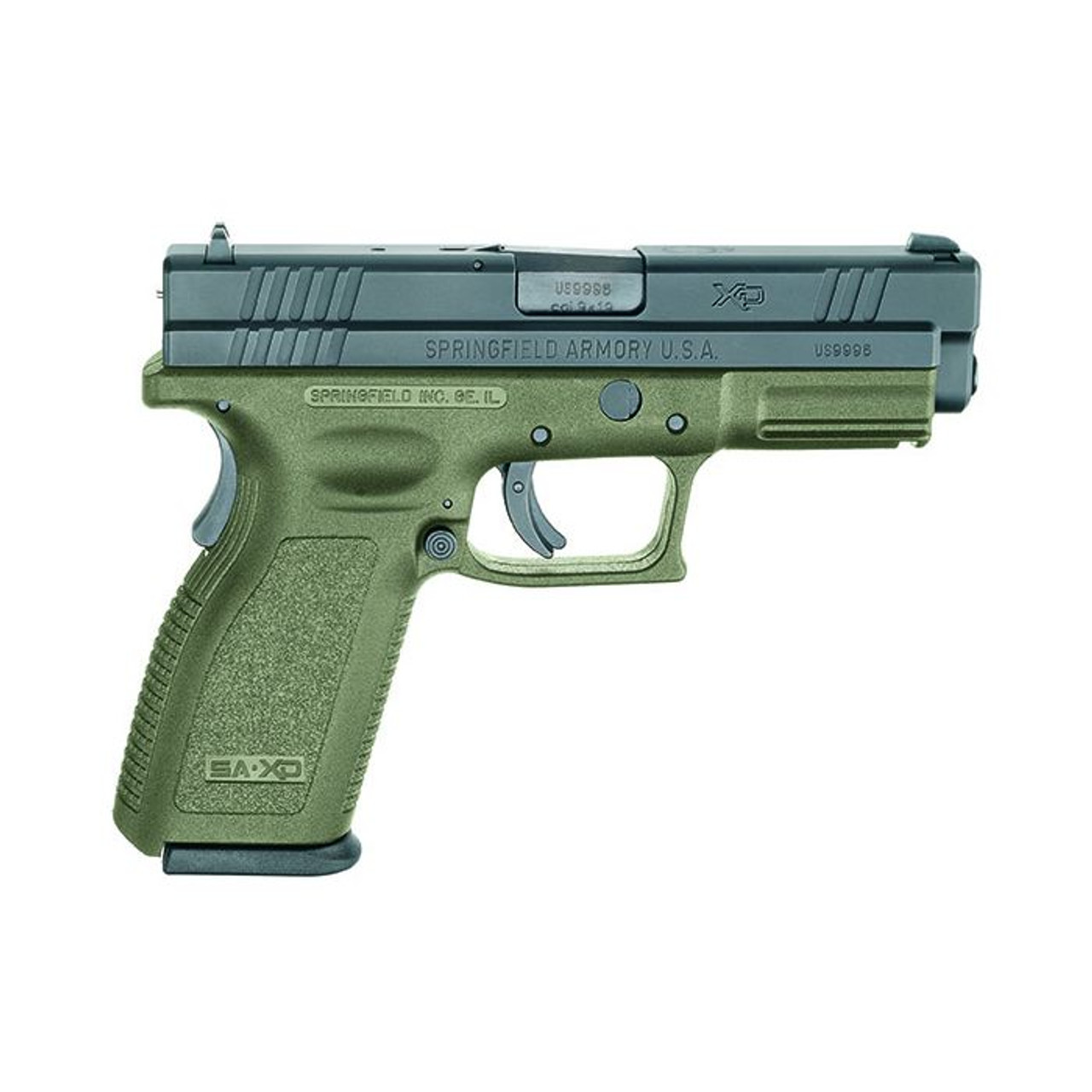 Springfield Amory XD9 OD Green 4in CALIFORNIA LEGAL - 9mm - LIGHT PACKAGE