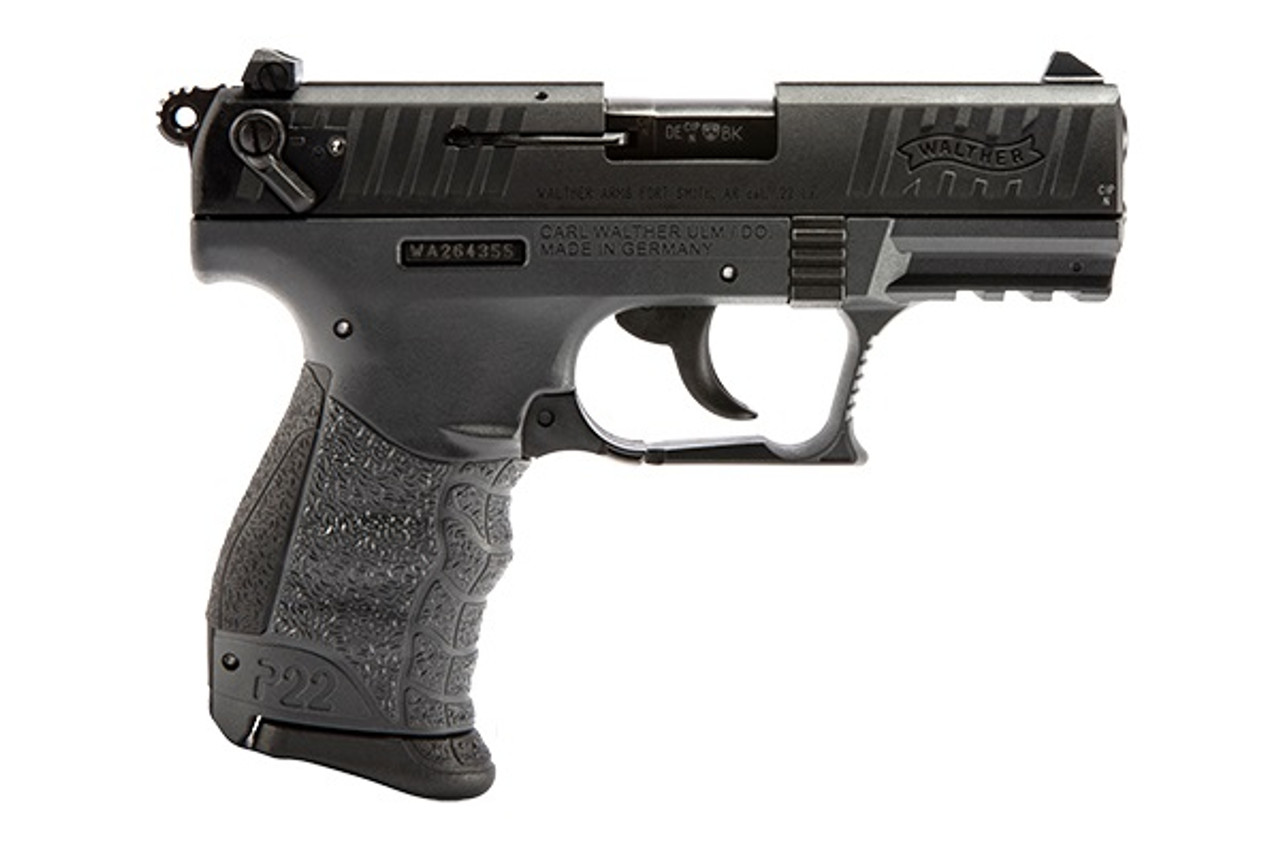 "Walther Arms P22 CA  3.4"" CALIFORNIA LEGAL - .22 LR - Tungsten"