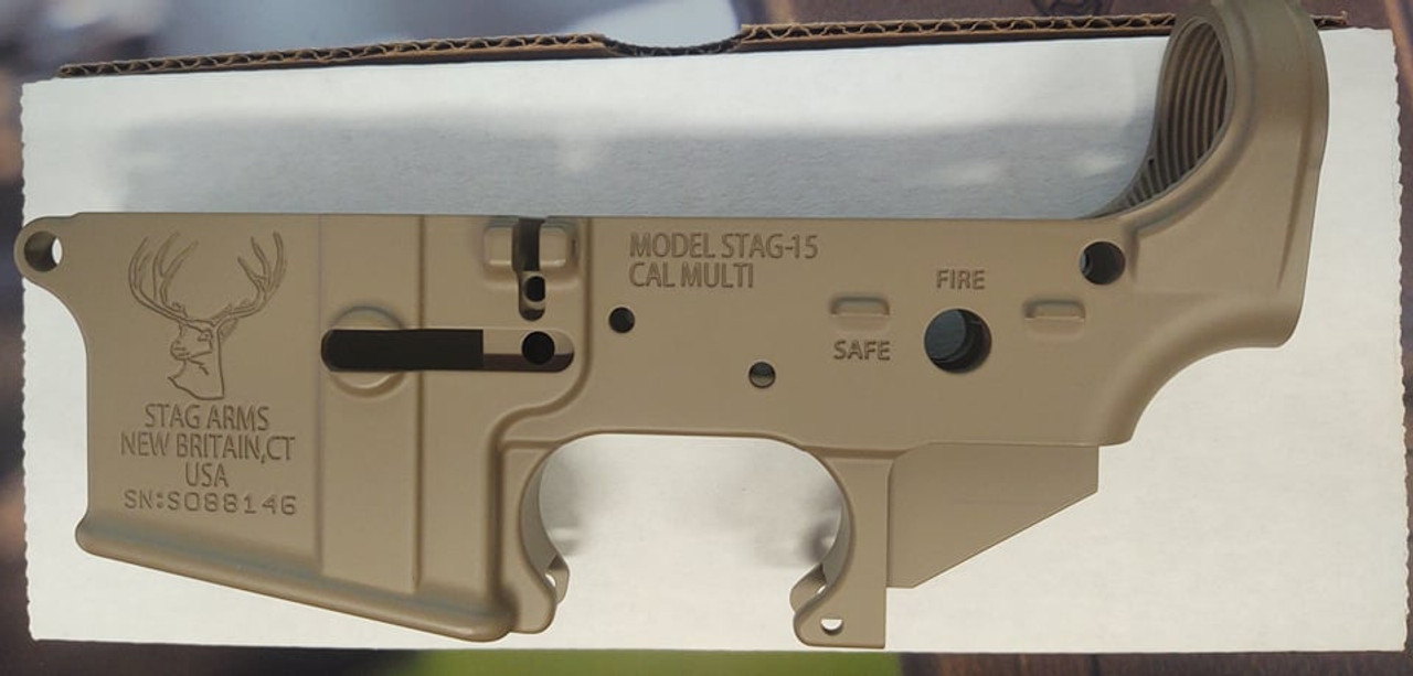 Stag Arms Stag-15 FDE Stripped Lower CALIFORNIA LEGAL - .223/5.56