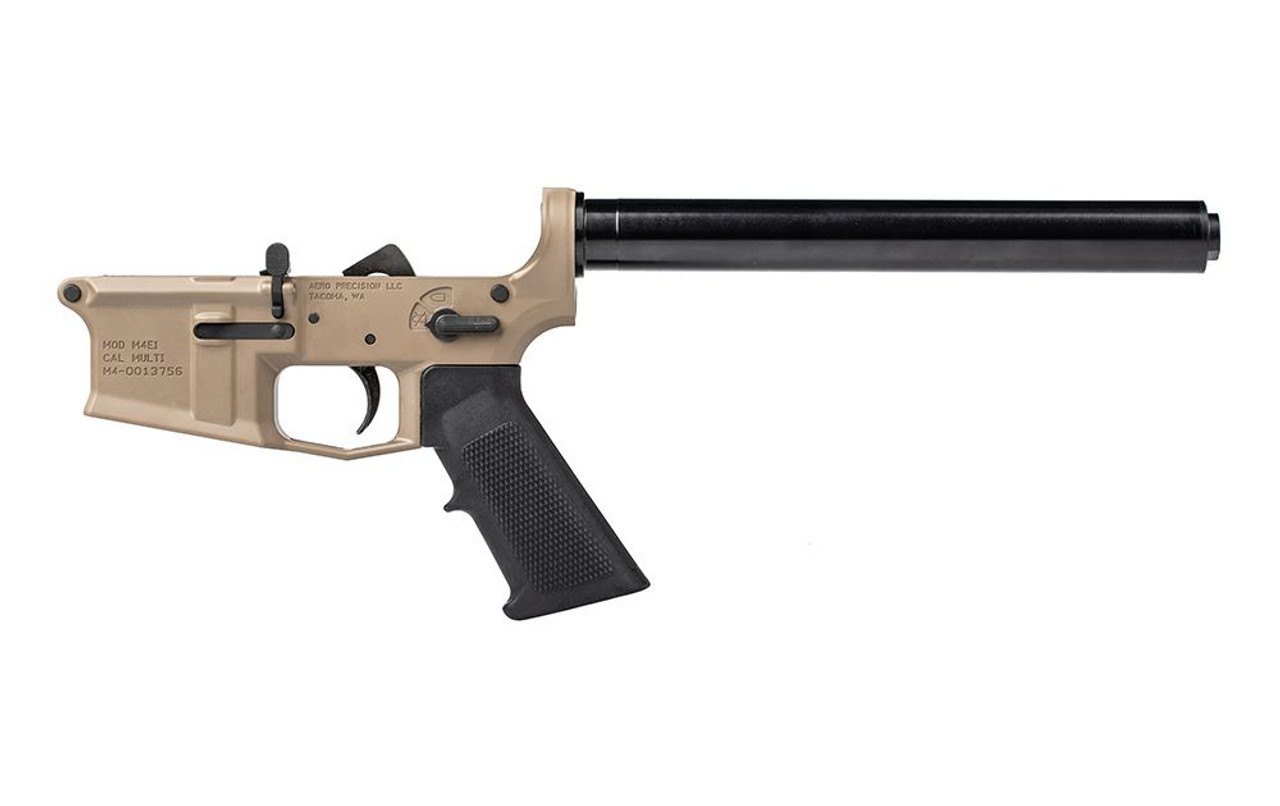 Aero Precision M4E1 Rifle Complete Lower Receiver w/ A2 Grip, No Stock CALIFORNIA LEGAL - .223/5.56 - FDE