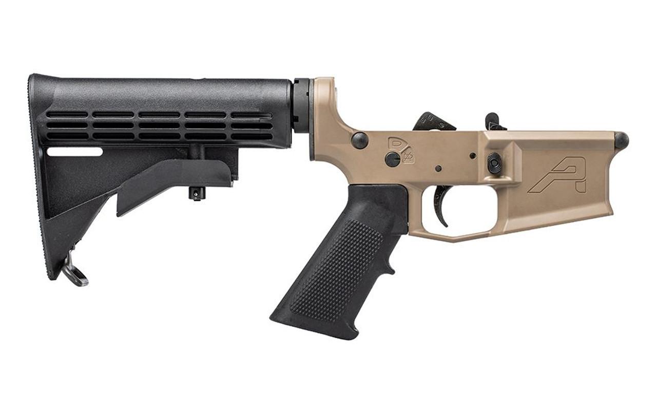 Aero Precision M4E1 Complete Lower Receiver w/ A2 Grip and M4 Stock CALIFORNIA LEGAL - .223/5.56 - FDE