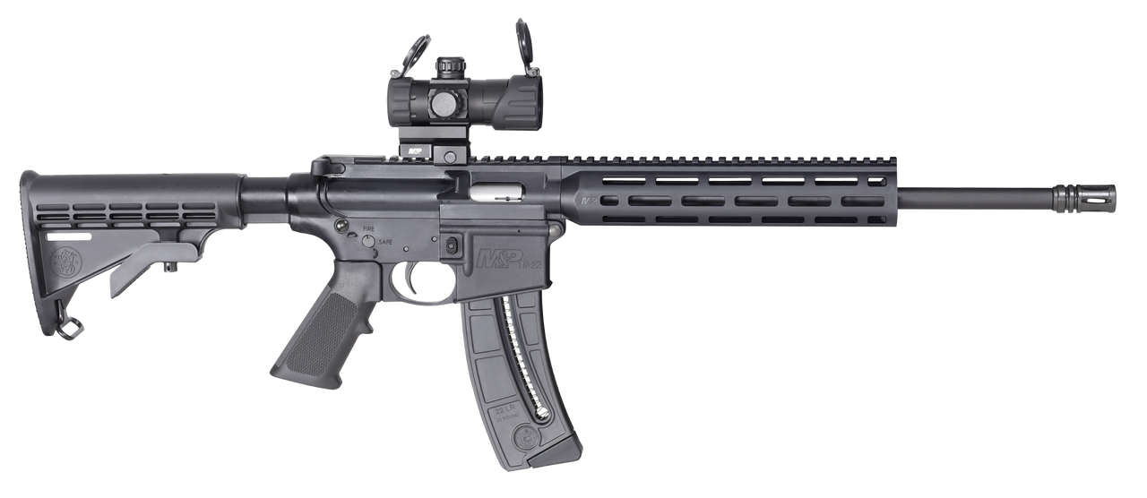 """Smith & Wesson M&P15-22 Sport RDS/GDS Optic 16.5"""" CALIFORNIA LEGAL - .22 LR"""