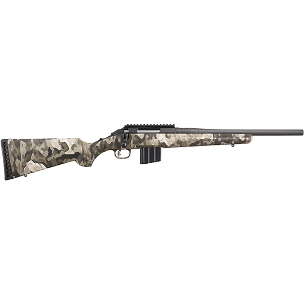 """Ruger American Ranch Rifle 16"""" CALIFORNIA LEGAL - .350 Legend - Anywhere Camo"""