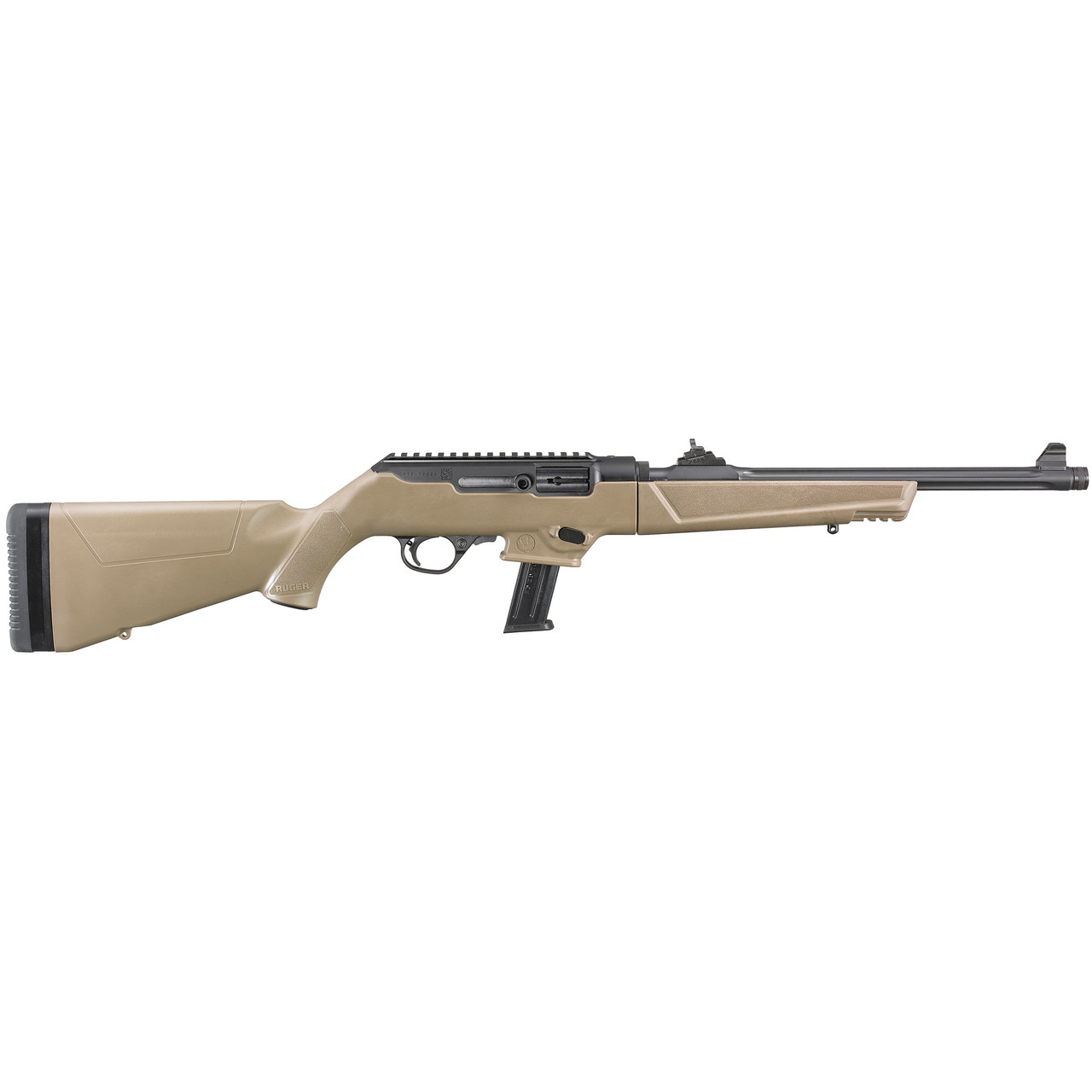 Ruger PC Carbine (Fluted, Threaded, Heavy Barrel) CALIFORNIA LEGAL - 9mm - FDE
