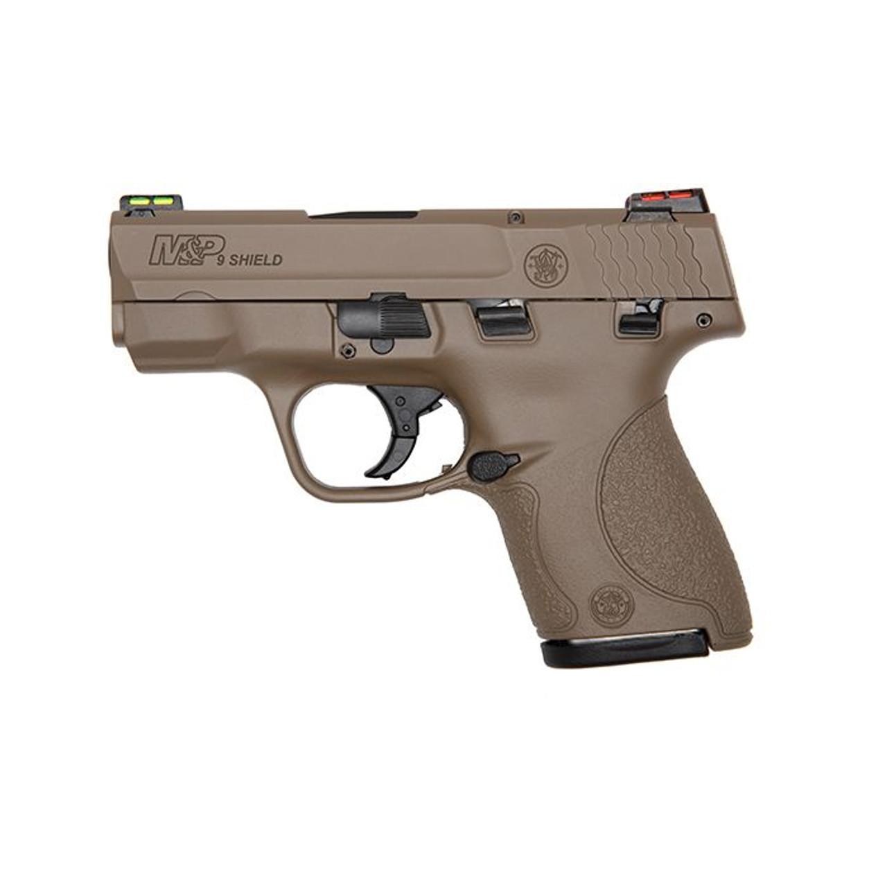 Smith & Wesson M&P 9 Shield Hi-Viz CALIFORNIA LEGAL - 9mm - FDE