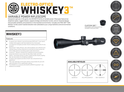 Sig Sauer Electro-Optics Whiskey3 4-12x