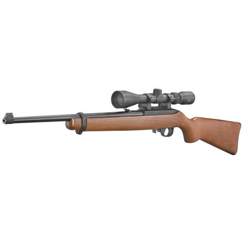 "Ruger 10/22 18.5"" Wood Stock w/3-9X40 Viridian Scope  CALIFORNIA LEGAL -.22lr"