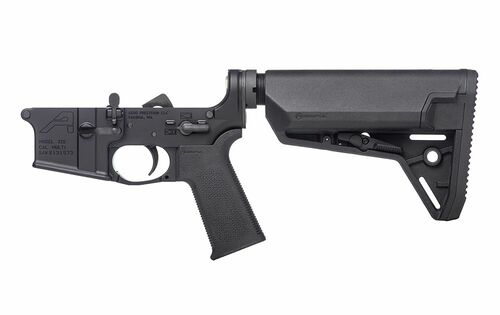 Aero Precision AR15 Complete Lower Receiver w/ MOE SL Grip & SL-S Carbine Stock CALIFORNIA LEGAL - .223/5.56