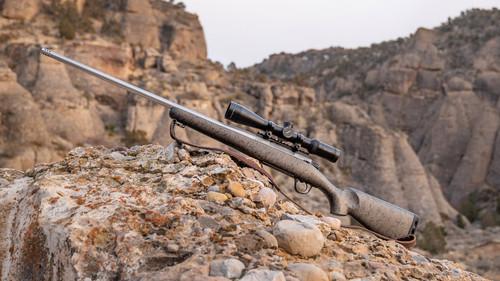 Christensen Arms Mesa Titanium Edition CALIFORNIA LEGAL - .300 Win Mag - Metallic Gray w/ Black Webbing