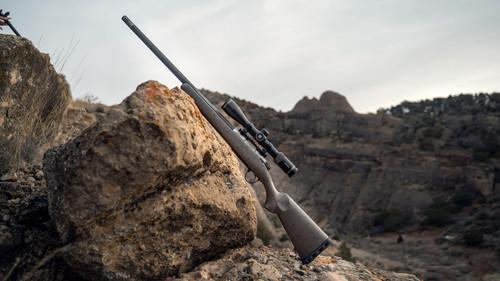 "Christensen Arms Ridgeline Titanium 24"" CALIFORNIA LEGAL - .300 Win Mag - Satin Metallic Grey w/ Black Webbing"