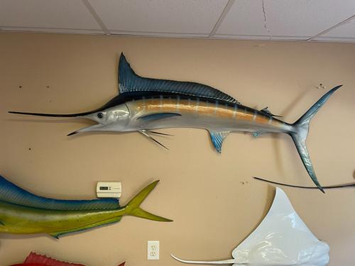 "75"" Blue Marlin Half Mount Fish Replica"