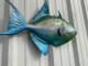 """26"""" Queen Triggerfish Half Mount Replica"""