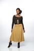 Simona midi skirt (faux suede)