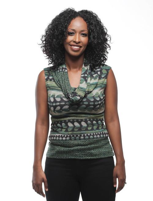 Evelyn sleeveless sweater {Green}