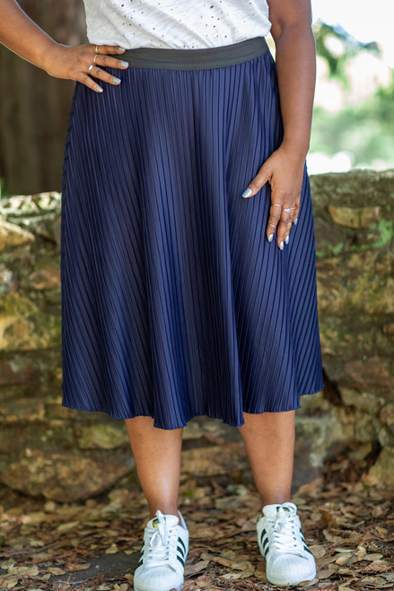 Maci Pleated Midi Skirt
