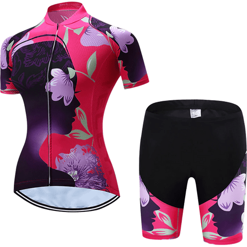 Teleyi Woman's Flower Cycling Kit