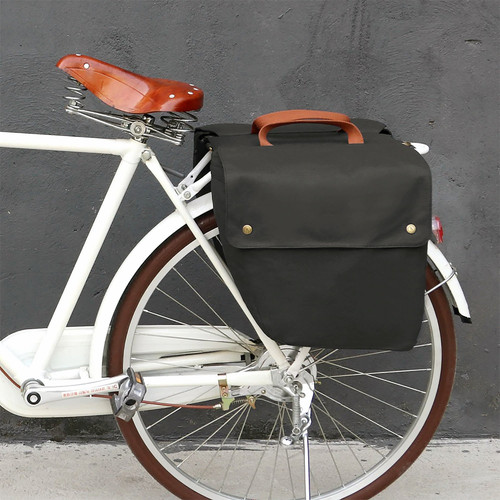 Vintage 23L Waterproof Canvas Pannier Bag