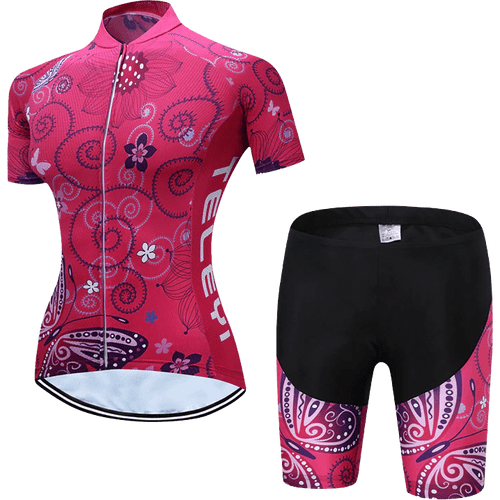 Teleyi Woman's Swirl Cycling Kit