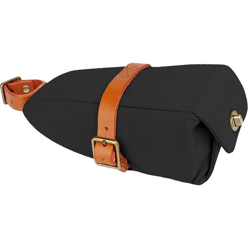 Black Water Repellent Canvas Saddle Bag