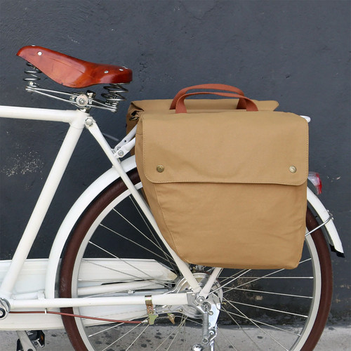 Vintage 23L Waterproof Canvas Dual Pannier Bag