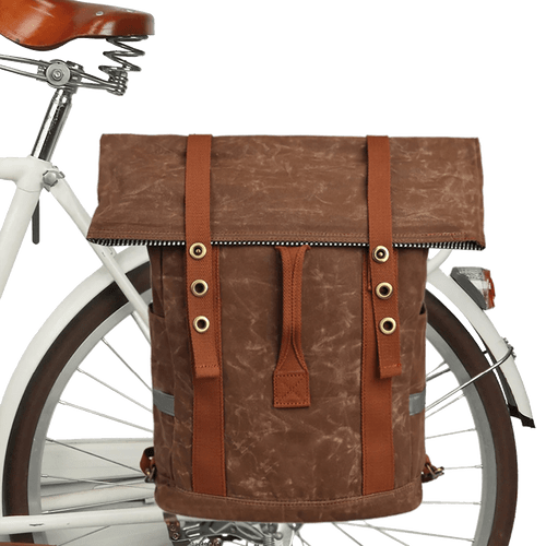 Retro Water Repellent Pannier Laptop Bag