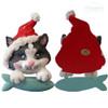 Ornament   Pouncing Cat w/ Santa Hat