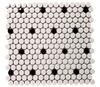 Satin White/Black | Glass Mosaic | FE051HEX35HD1P
