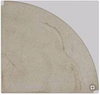 Cast Stone Ivory Corner Shelf | Stone | 33-003